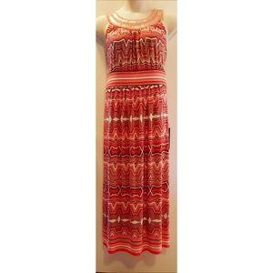 Avenue Geo Print Maxi Dress